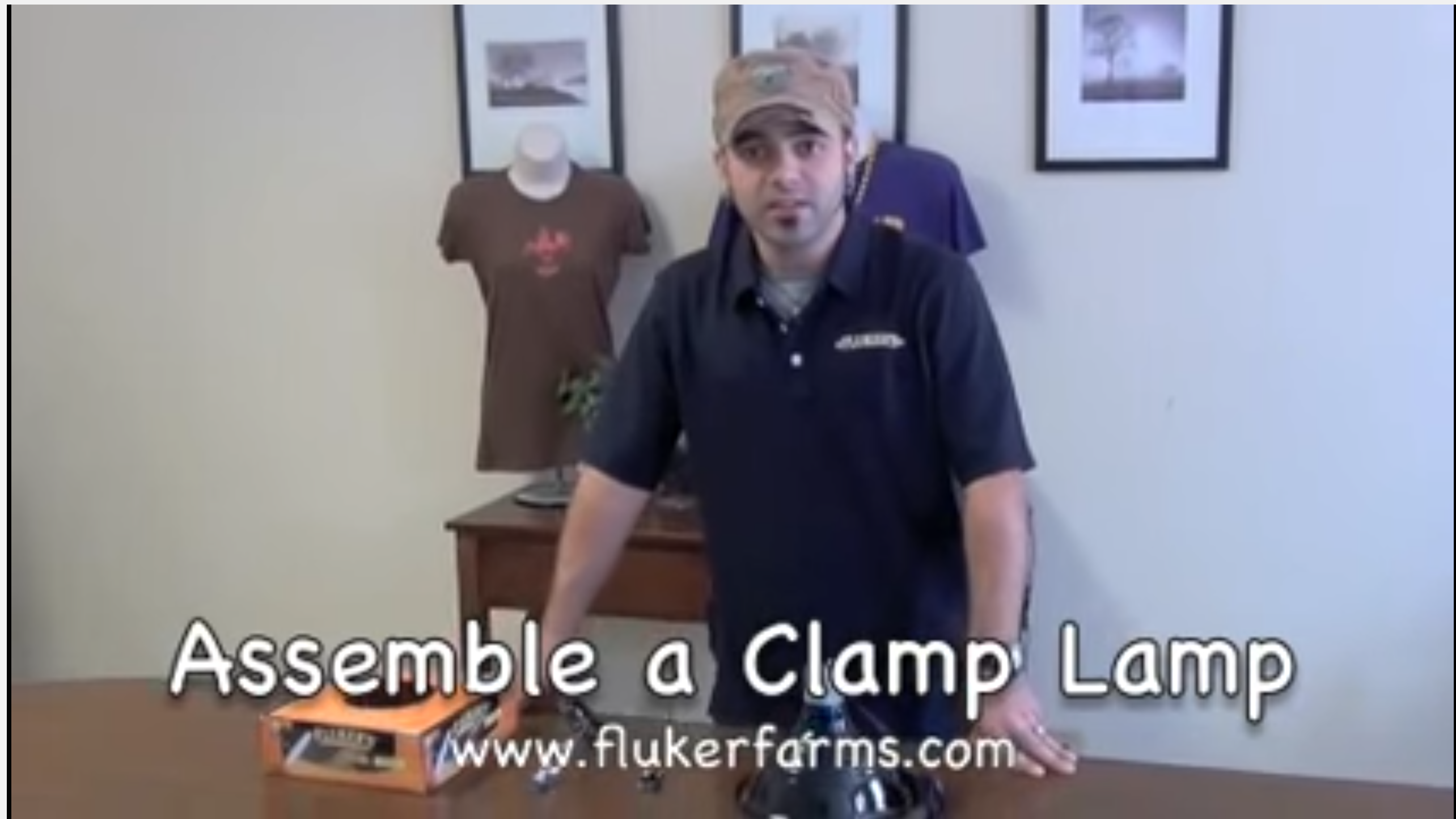 Video how to assemble fluker's clamp lamp